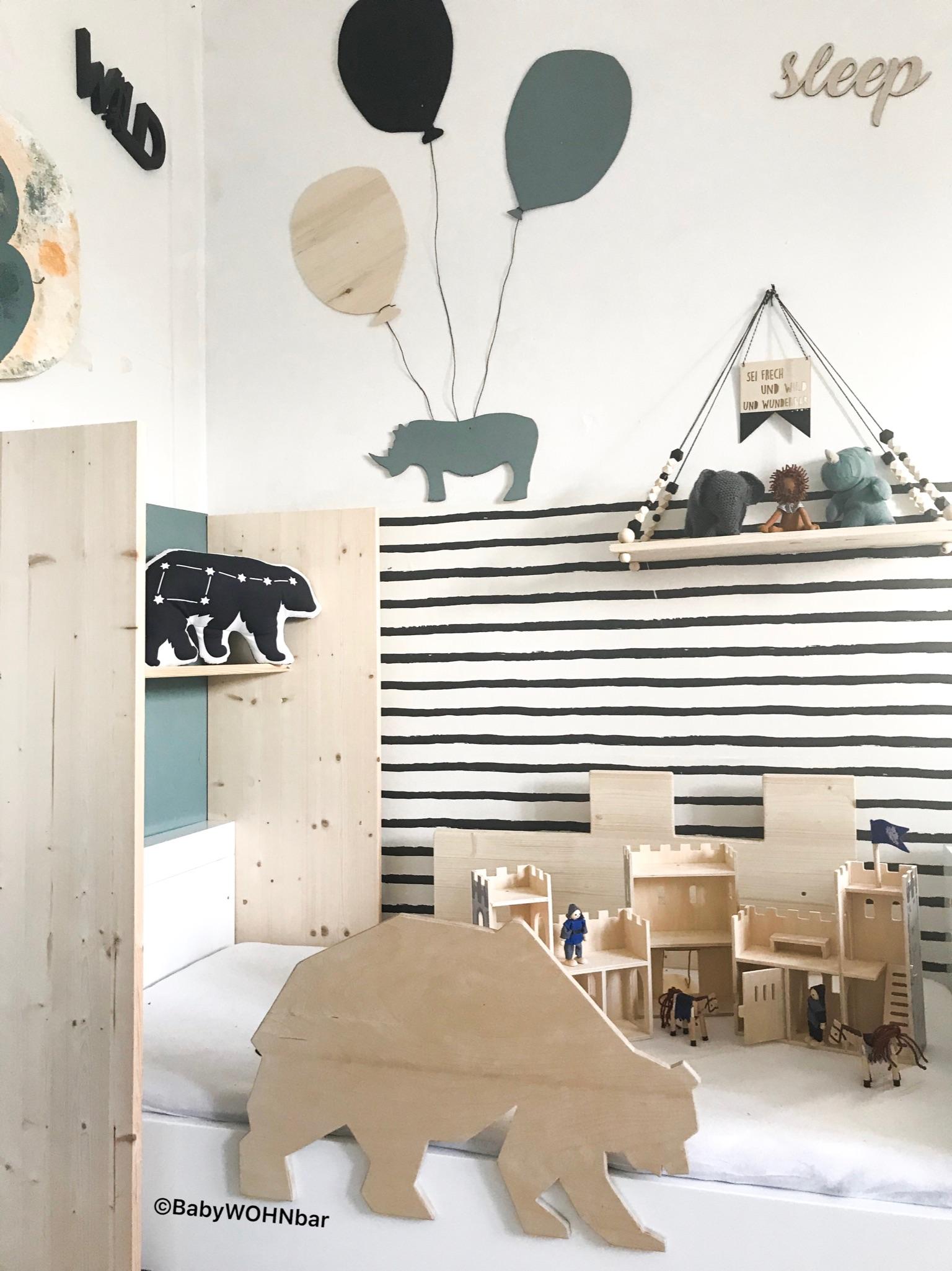 Kinderzimmer Holzdeko – babyWOHNbar